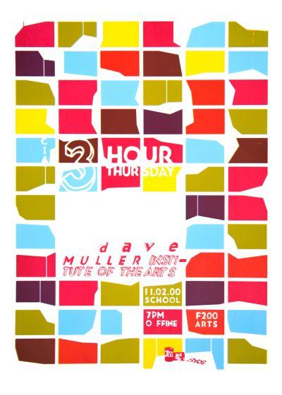 CalArts poster: Dave Muller by Jessica Fleischmann Tuan Phan