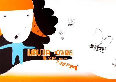 CalArts poster: Laura Owens by Daniela Marx Synderela Peng