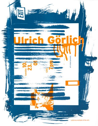 CalArts poster: Ulrich Görlich by Lehze Flax