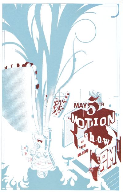 CalArts poster: 2003 Motion Show by Andrew Bernet Raffi Simonian
