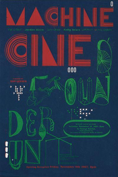 CalArts poster: Machine Underground by Diego Padilla