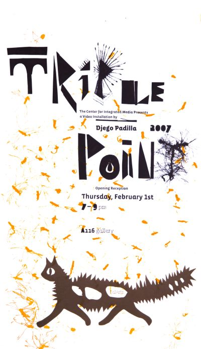CalArts poster: Triple Point by Diego Padilla