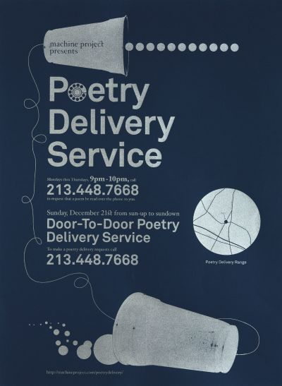 CalArts poster: Poetry Delivery Service by Gregory Coats