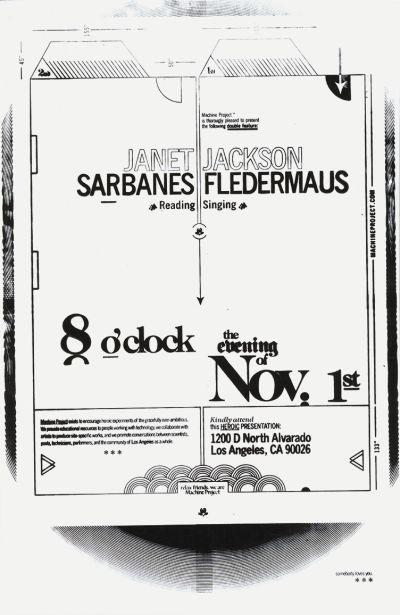 CalArts poster: Janet Sarbanes and Jackson Fledermaus by Chris Morabito
