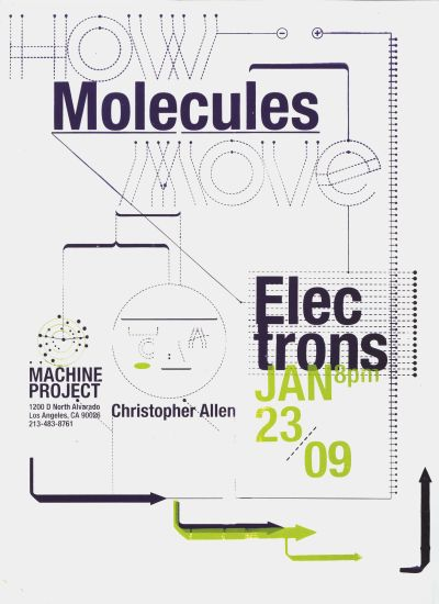 CalArts poster: How Molecules Move by Hye Jin Lee