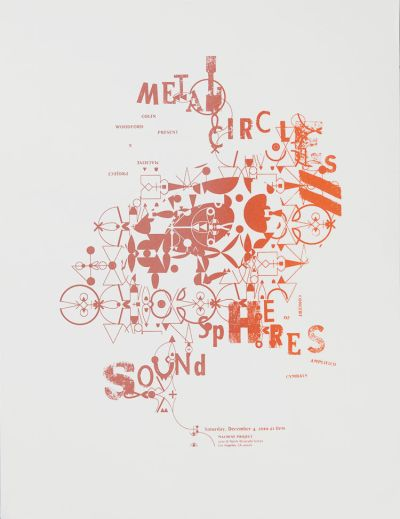 CalArts poster: Metal Circles Sound Spheres by Danae Moore Mary Kim Harmon