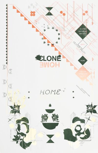 CalArts poster: Clone Home by Aastha Gaur Lucy Cook
