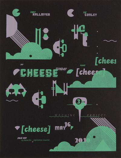 CalArts poster: Cheese by Jesse Lee Stout Megan Lynch