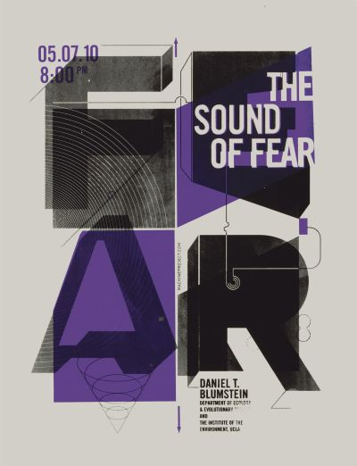 CalArts poster: The Sound Of Fear by Chris Morabito Jennifer Rider