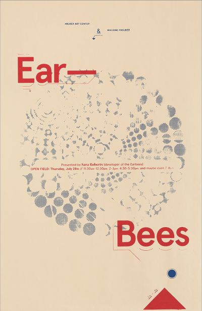 CalArts poster: Ear Bees by Chris Morabito