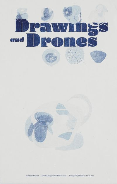 CalArts poster: Drawings and Drones by Gail Swanlund