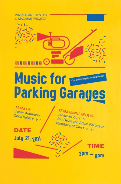 CalArts poster: Music for Parking Garages by Florencio Zavala