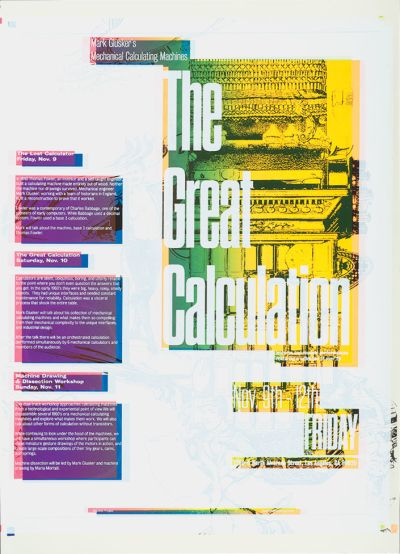 CalArts poster: The Great Calculation by HeeJeong Christine Do