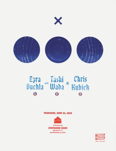 CalArts poster: Buchla, Wada and Kubick by Gregory Coats