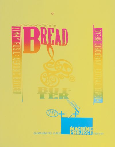 CalArts poster: Bread and Butter by Ed Fella
