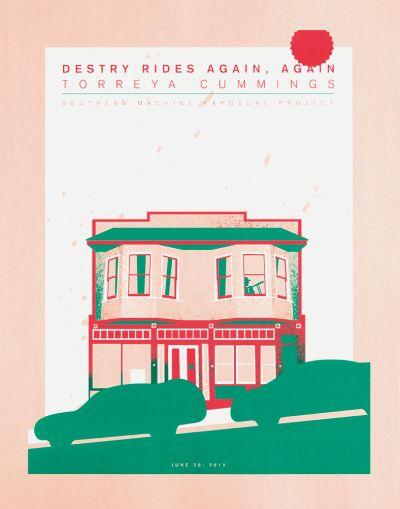 CalArts poster: Destry Rides Again by Florencio Zavala