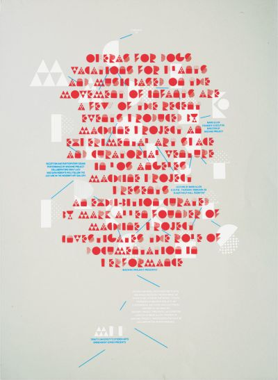 CalArts poster: Machine Project Presents by Kat Dickinson