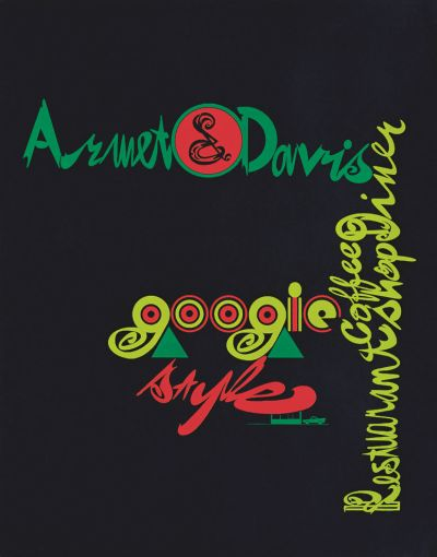 CalArts poster: Armet & Davis: Googie Style by Ed Fella