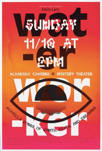 CalArts poster: Water Worker by Hayden Smith