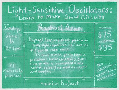 CalArts poster: Light Sensitive Oscillators by Taylor Giali Tom Kracauer