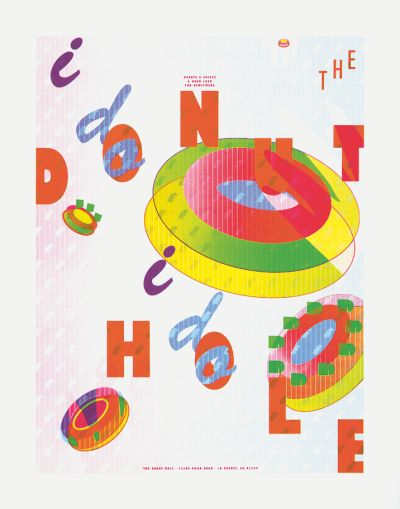 CalArts poster: The Donut Hole by Thea Lorentzen