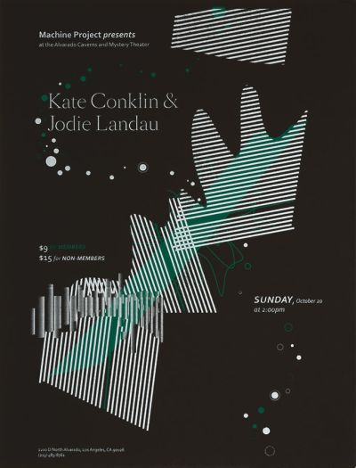 CalArts poster: Kate Conklin and Jodie Landau by Lorena Reyes