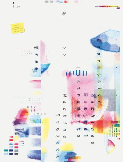CalArts poster: Expressive Machines by Calvin Rye Cathy Kangwon Lee
