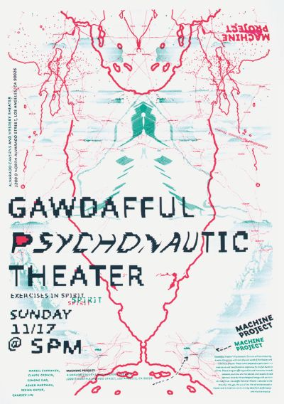 CalArts poster: Gawdafful Psychonautic Theater by Calvin Rye