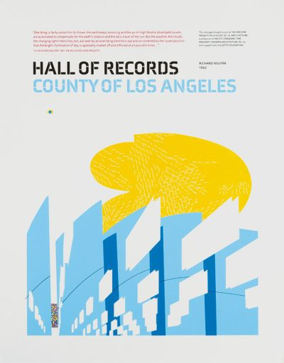 CalArts poster: Hall of Records by Gail Swanlund
