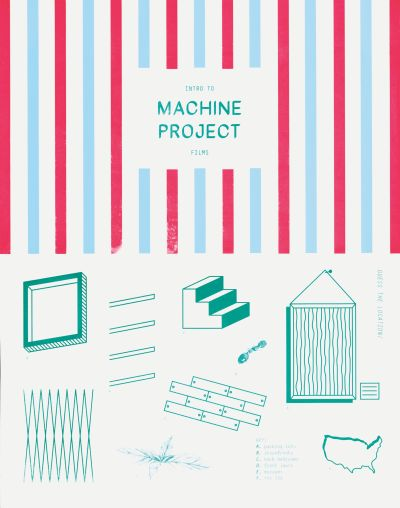 CalArts poster: Intro to Machine Project Films by Tiffanie Tran