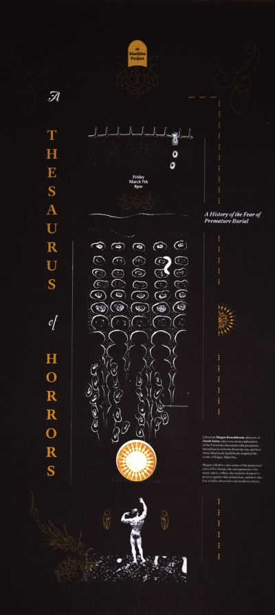 CalArts poster: Thesaurus of Horrors by Brooke Irish Sarah Young