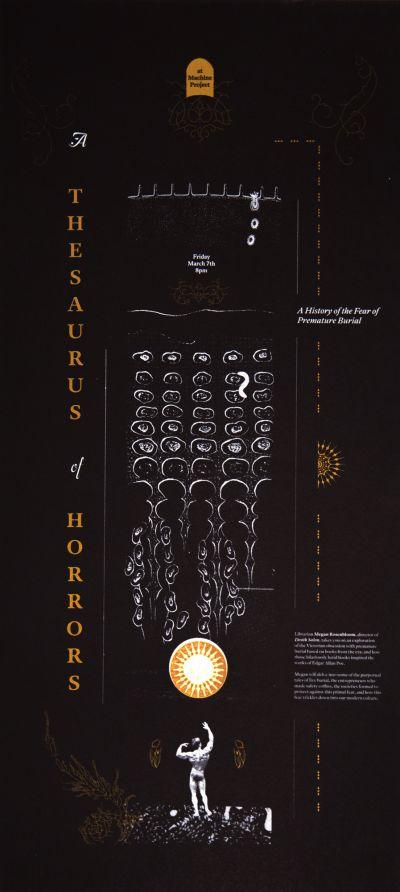 CalArts poster: A Thesaurus of Horrors by Brooke Irish Sarah Young