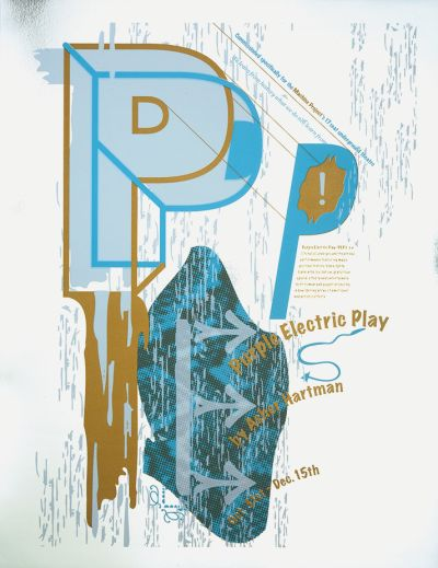 CalArts poster: Purple Electric Play by Sibylle Hagmann