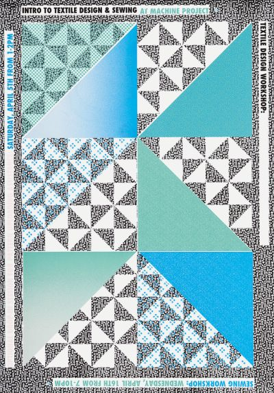 CalArts poster: Intro to Textile Design and Sewing by Hayden Smith