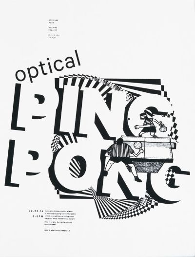 CalArts poster: Optical Ping Pong by Jenny Song
