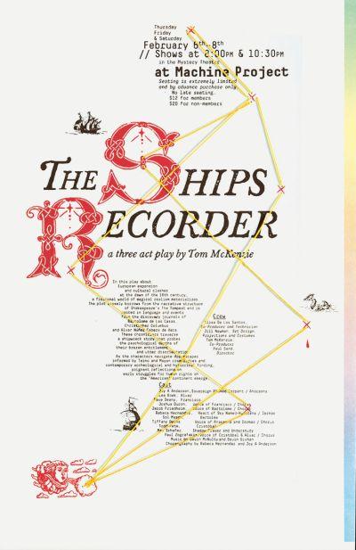 CalArts poster: The Ships Recorder by Isaiah Montoya Kaoru Matsushita
