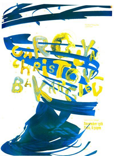 CalArts poster: Carolyn Christov Bakargiev by Henrique Eira Marco Lukini