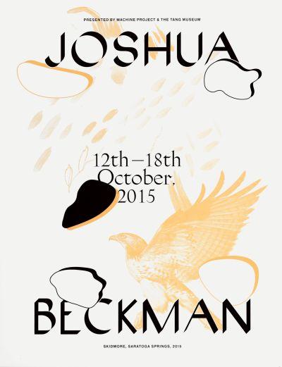 CalArts poster: Joshua Beckman by Tanya Rubbak