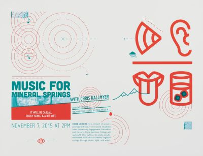 CalArts poster: Music for Mineral Springs by Sarah Young