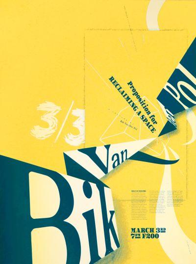 CalArts poster: Bik Van Der Pol by Henrique Eira Yunji Jun