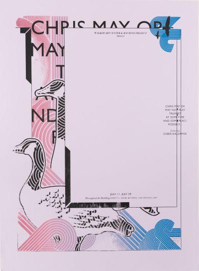 CalArts poster: Chris May or May Not Play Trumpet by Peter Kaplan