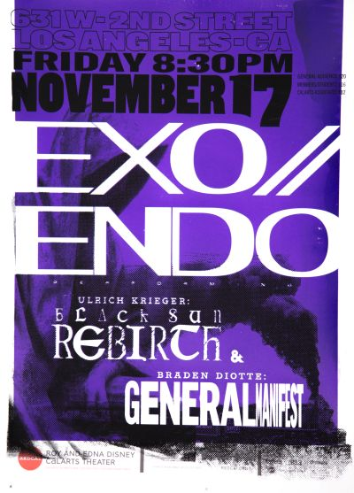 CalArts poster: REDCAT: EXO // ENDO by Alex Cheng Trey Brothers