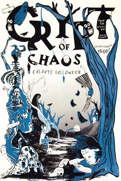 CalArts poster: 2017 Halloween: Crypt of Chaos by Hannah Kim [II] Izgi Yavuz