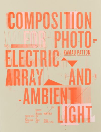 CalArts poster: Composition for PhotoElectric Array by Jennifer Rider Lucy Cook