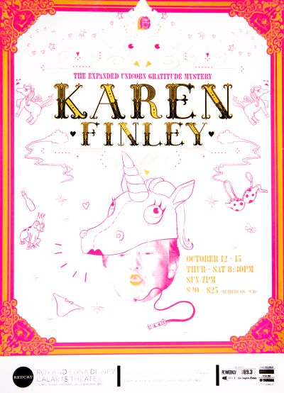 CalArts poster: REDCAT: Karen Finley by Allison Hsiao Tommy Choi