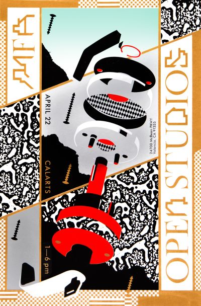 CalArts poster: 2018 MFA Open Studios by Jacob Shpall