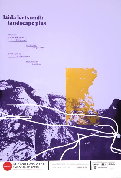 CalArts poster: REDCAT: Landscape Plus by Lisa Armstrong