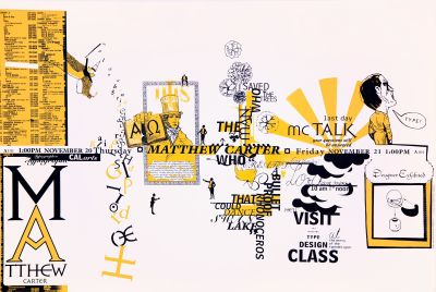 CalArts poster: Matthew Carter by Ana Llorente Andrea Tinnes HweeMin Loi Jose Allard Lee Schulz Pirco Wolfframm