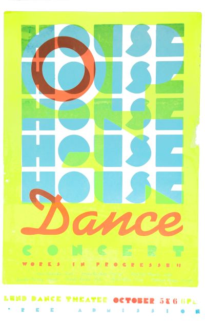 CalArts poster: CalArts Open House Dance Concert by