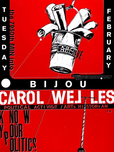CalArts poster: Carol Welles by Joseph Monnens